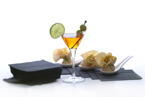 drink and appetizer stock image