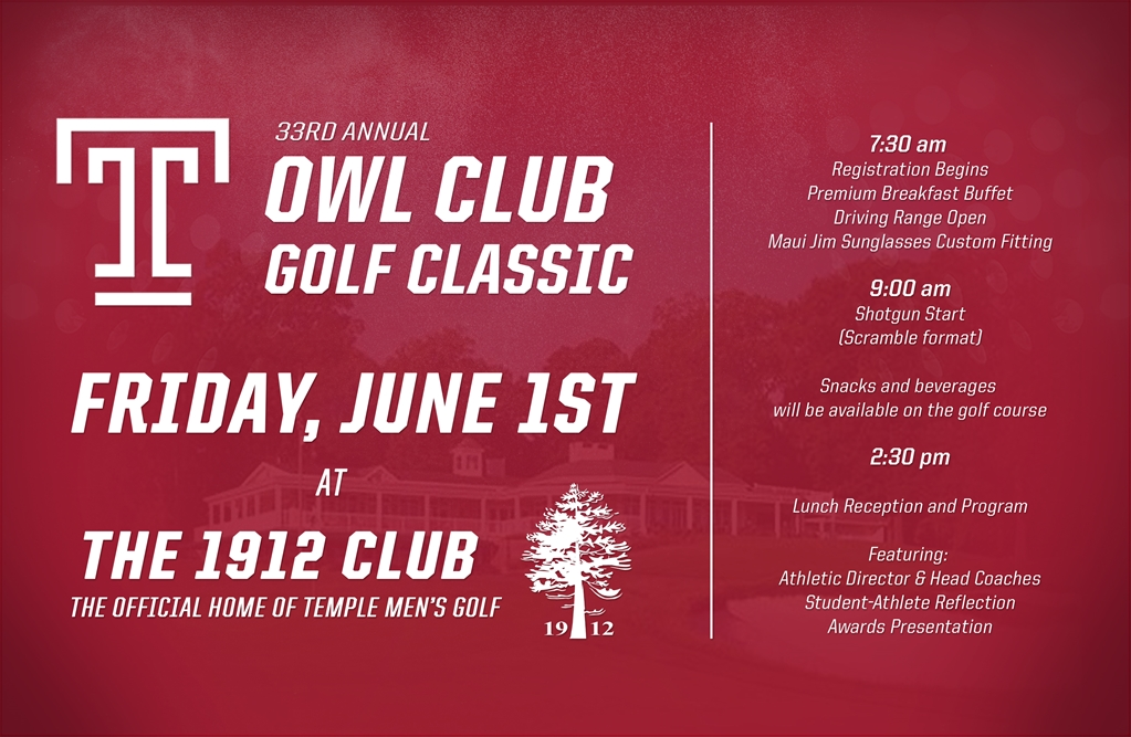 Temple University 33rd Annual Temple Owl Club Golf Classic