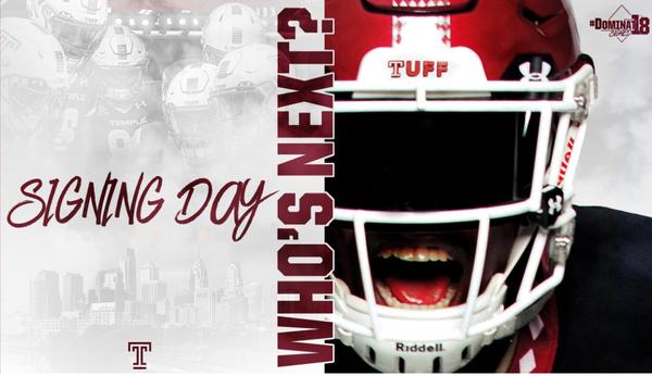 size 40 56c92 b8173 Temple University - 2018 Football Recruiting Celebration